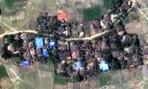 Satellietbeelden van Human Rights Watch tonen aan dat eerst hele Rohingya-dorpen zijn platgebrand in de afgelopen maanden.