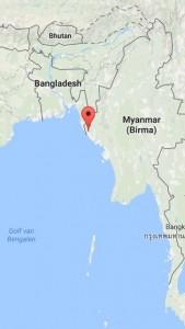 Buthidaung in het noordwesten van Myanmar