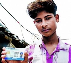 De 16 jaar oude Ashokur Rahman.