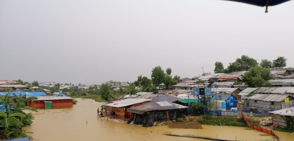 De vluchtelingenkampen zijn zwaar getroffen door het slechte weer.