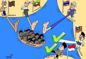 Maleisië en Indonesië duwen de Rohingya niet meer terug de zee op